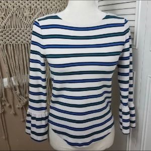 Ann Taylor striped top [flared sleeves]